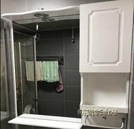 「樂天優選」掛牆式衛生間浴室鏡櫃衛浴置物架帶燈壁掛洗手間化妝鏡子鏡面櫃MNS