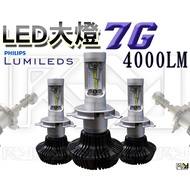 ⚡R+R⚡LED 大燈 7G 無風扇 飛利浦大燈 4000LM 直上勁戰全系列 JETS FIGHTER 非6G 3S