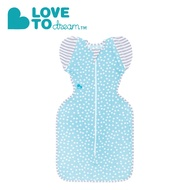 Love To Dream專利輕薄款蝶型包巾 可拆式進階款 藍點點 (M/L)『121婦嬰用品館』