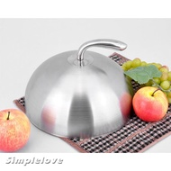 Stainless Steel Food Cover Cloche Domed Cover Serving Dish