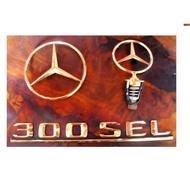 ~發哥雙B修護屋~賓士 BENZ 原廠 300SEL字體 車頭標誌 後蓋標誌
