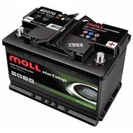☼ 台中苙翔電池 ►德國製造 MOLL高性能EFB電瓶 70AH 原廠指定 斯柯達 福斯 寶馬 賓士 寶獅 富豪