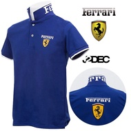 เสื้อโปโล ตรา Ferrari ผ้า Cotton อย่างดี สวมใส่สบาย เท่ ดีไซน์โดดเด่น มีเอกลักษณ์