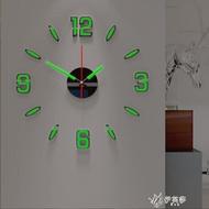 夯貨下殺~夜光DIY掛鐘客廳現代簡約靜音創意時鐘錶家用裝飾亞克力墻貼壁鐘