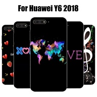 Huawei Y6 2018 Case Patterned Soft Back Cover For Huawei Y6 2018