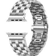 เหล็กสแตนเลสสำหรับสายคาด Apple Watch 4 42Mm/38Mm 3สายนาฬิกา Apple Watch 44มม./40มม.สายคล้องคอเข็มขัด Watchbands Apple Black Gold Gold