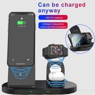ใหม่3 In 1 Fast Wireless Charger Dock Station Fast ChargingสำหรับIPhone 12 Samsung Galaxy S20/หมายเหตุ10สำหรับApple Watch 2 3 4 5