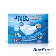 藍鷹牌 立體型成人醫用口罩-50片x5盒(藍/綠/粉)