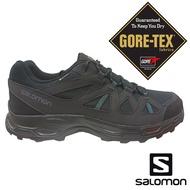 【SALOMON 法國】男 RHOSSILI GTX低筒登山鞋『黑/幻灰/青』412306