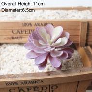 39รูปแบบสีม่วง Flocking ไม้อวบน้ำประดิษฐ์พืชในบ้านและสวนตกแต่ง DIY พืชดอกไม้ติดผนัง Arrangement พืชปลอม