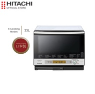 Made In Japan, Hitachi, Microwave Oven, Super Heated Steam & Triple Weight Sensor, MWO + Convection Oven + 250 Deg. Celcius Grill, 115 built-in Recipe, LCD Display, Auto Power Off, MRO-AV100E