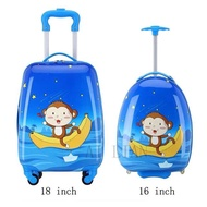 เด็กใหม่กระเป๋าเดินทางแบบลากการ์ตูนสัตว์กระเป๋าเดินทางมีล้อกระเป๋าเดินทางกระเป๋าเดินทาง Spinner ล้อเด็ก Cabin กระเป๋าเดินทาง