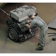 No-Engine Model-Kits Miniature Resin Figure Infantry-At-Work 1/35 Unpainted Ancient Unassembly