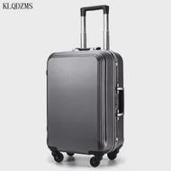 KLQDZMS PCน้ำหนักเบากระเป๋าเดินทางคลาสสิก20''22''24''26'28Inch ABS Carry-On Universalล้อธุรกิจสำหรับผู้ชายผู้หญิง