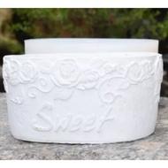 水泥盆矽膠模具 橢圓造型花盆