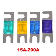 15A 20A 30A 40A 50A 60A 70A 80A Small Gold Plated ANL Bolt-on Audio Stereo Automotive Car Truck Blade Fork Fusible Fuse