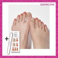 Dashing Diva - Magic Press MWK077P 足部超薄甲片-繽紛粉橘 加配 品牌指甲銼
