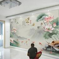 免運 壁紙 5d電視背景墻壁紙8d墻紙客廳大氣簡約現代影視墻布3d立體裝飾壁畫