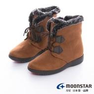 【MOONSTAR 月星】發熱3度C系列-3E寬楦可調式鞋帶防水發熱冬靴(駝色)