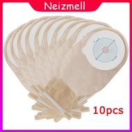 HDR 10pcs 65mm Cut Size Beige Cover Drainable one-piece System Ostomy Bag Colostomy Bag Pouch Ostomy Stoma