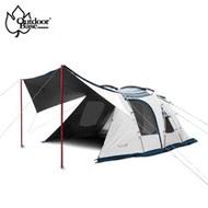 【OutdoorBase】Skypainter 彩繪天空帳2D(2 door)帳篷含頂布(一房一廳帳篷 六人帳)
