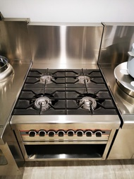 4 Stove Open Burner/ Stainless Steel Gas Cooker