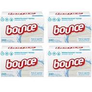 misobeauty美國代購 熊寶貝Bounce烘衣機去靜電紙/烘衣紙/除臭紙 250張無香 敏感肌 抗過敏 1盒590