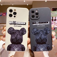 For iPhone 12 11 Pro XS Max Cartoon Phone Case For iphone 7 Plus 8 6 X XR Bearbrick Silicone Back Cover
