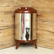 不銹鋼商用6L8L10L12L奶茶桶水龍頭保溫桶涼茶果汁豆漿咖啡汁 WD 聖誕節歡樂購
