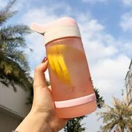 吸管杯 帶刻度吸管水杯大人少女抖音網紅創意大容量運動塑膠杯『SS966』