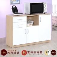 HOPMA 三門二抽廚房櫃 D-C120BR/ML-R1