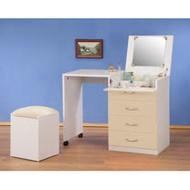 《C&B》 伸縮兩用化妝桌櫃椅組