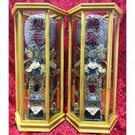 1尺6 太子樓 安金 雙色 錫燈 含框 外框寬20公分 台灣安規電線 LED燈泡*2