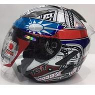 KYT DJ # 國旗2代 半罩式 安全帽 雙鏡片 3/4罩 內建鏡片 限量款《裕翔》
