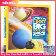 Science Books National Geographic Little Kids First Big Book of Space Hardcover English Activity Booksนิทานเด็ก