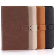HUAWEI MediaPad T3 10 皮革保護套復古紋皮革翻蓋扣帶皮套插卡平板套支架
