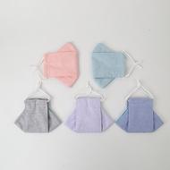 船型立體布口罩套環保鼻樑壓條布口罩可替換濾材可清洗/成人/兒童