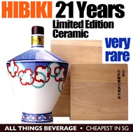 Hibiki 21 Years Ceramic Decanter Limited Edition with Wooden Box
