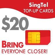 SingTel $20 Top-Up