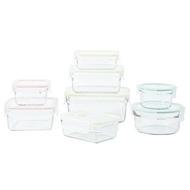 代購costco Glasslock 無邊框系列玻璃保鮮盒組 含蓋共16件#125365
