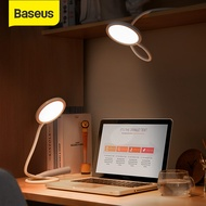 Baseus Universal Flexible Hose Desk Reading Light USB Stepless Dimmable Touch Table Lamps 4000K Eye Protection Study Lamp Foldable LED Table Light