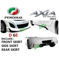 PERODUA AXIA 2014-16 (PU2733F,PU2685S & PU2714R)DRIVE 68 BODY KIT D68  SKIRT SKIRTING FULL SET BODYKIT G SPEC 2015 201