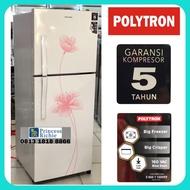 Kulkas Polytron 2 pintu PRX 212 W