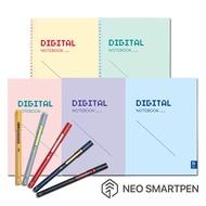Neo smartpen M1智慧筆+數位學習筆記5本組黑色