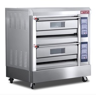 Micro computer commercial double deck gas oven