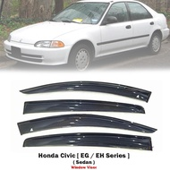 Weathershield Car Window Door Visor Wind Deflector For Honda Civic EG 4DR 92-95