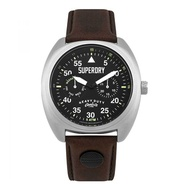 Superdry SYG229BR Analog Quartz Brown Leather Mens Watch