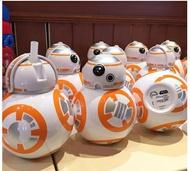 X射線【C320003】香港迪士尼樂園代購-星際大戰Star Wars BB-8吸管水壺,水杯/馬克杯/杯瓶/水壺/不鏽鋼杯