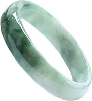 Classic Retro Oriental Style Natural Jade Bangle Burma Jadeite Round Bar Link Bracelet,Crystal Natural Stone For Men Women Holiday Gift. (Size : 59-60MM)