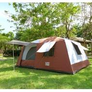 【LIFECODE】二房一廳-抗紫外線超大8人帳篷-二門四窗